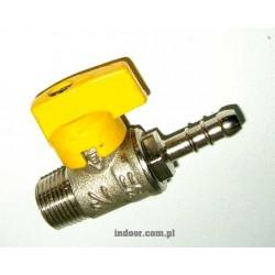 """Zawór gazowy 1/2"""" 9 mm"""